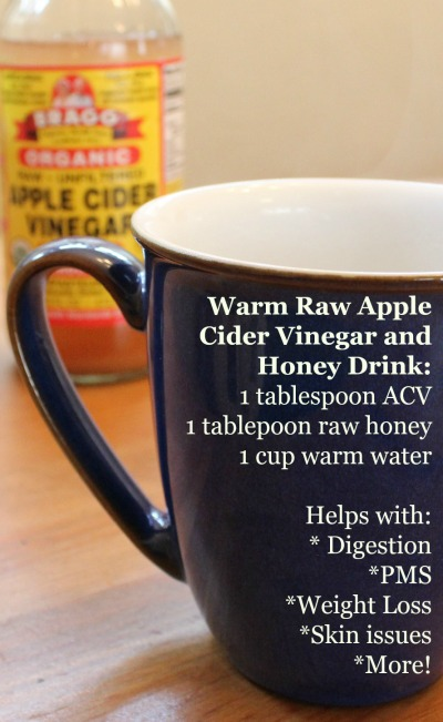 Apple Cider Vinegar and Raw Honey: This Warm Drink has